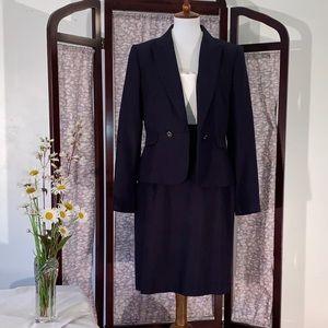 Antonio Melani Black Suit with Jacket and Dress.